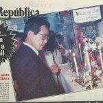 """Mayo 91: en uno de los 1eros psicosociales que se harían costumbre en su Gob, Fujimori """"oraba"""" ante virgen que llora https://t.co/XtXn1o3XzF"""