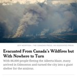 """#FortMacFire is the #1 and #2 story in NY Times """"World"""" section. Unbelievable disaster. #ymmfire https://t.co/jjQqDwkqW6"""