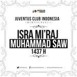 Juventus Club Indonesia memperingati Isra Miraj Nabi Muhammad SAW. Semoga tauladan Rasulullah tetap di hati kita. https://t.co/2zXAmtHRjt