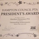 Aberdeen PTA received EIGHT AWARDS! We couldnt have done it without all our Members & Volunteers!Thanks @757KYoung https://t.co/fwdk2xd7jW