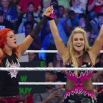 #WWEs @natbynature and @BeckyLynchWWE are victorious on #SmackDown!!!!! https://t.co/ZkccGfbr0T