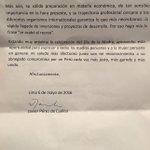 """El Gran Javier Perez de Cuellar anuncia que votará por PPK. """"Los peruanos no debemos volver a dar un salto al vacío"""" https://t.co/HqGkWAppys"""