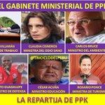 PPK reparte ministerios a diestra y siniestra por apoyo y votos. ¡ASÍ QUEDARÍA SU GABINETE! #LaRepartijaDePPK https://t.co/BG0YCmBLKE