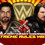 THIS MATCH IS LIFE!!! @WWERomanReigns vs. @AJStylesOrg at #ExtremeRules. #SmackDown https://t.co/kCWKjkhpBV