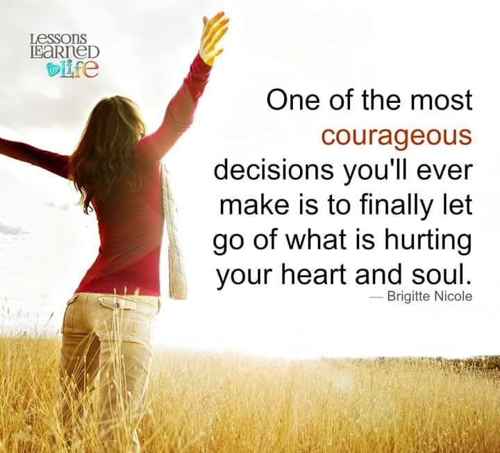 Your most courageous decision is to let go of what is hurting you! https://t.co/aqvOfLzoWa