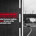 BREAKING: Labor's poor planning means you're stuck paying tolls for the next 10 years! #springst https://t.co/9LhQURqLrT
