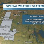 Special air quality statement has expanded to include #yxe where current AQHI is 7/10 (high health risk) #skstorm https://t.co/qIp5kos1YV