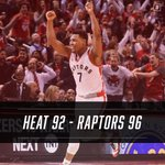 Raptors take Game 2 in OT!  Series tied 1-1 heading back to Miami. https://t.co/QVFO8XPUIF