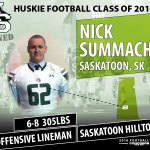 The 1st of 4 O-Lineman, former @SaskHilltops and #yxe product Nick Summach! Welcome to the @skhuskies https://t.co/puXTDmCjx4
