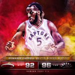 DeMarre Carroll scores 21 pts, grabs 5 rebs and nabs 4 stls for @Raptors in crucial Game 2 victory. https://t.co/VmRqtGj1Kw