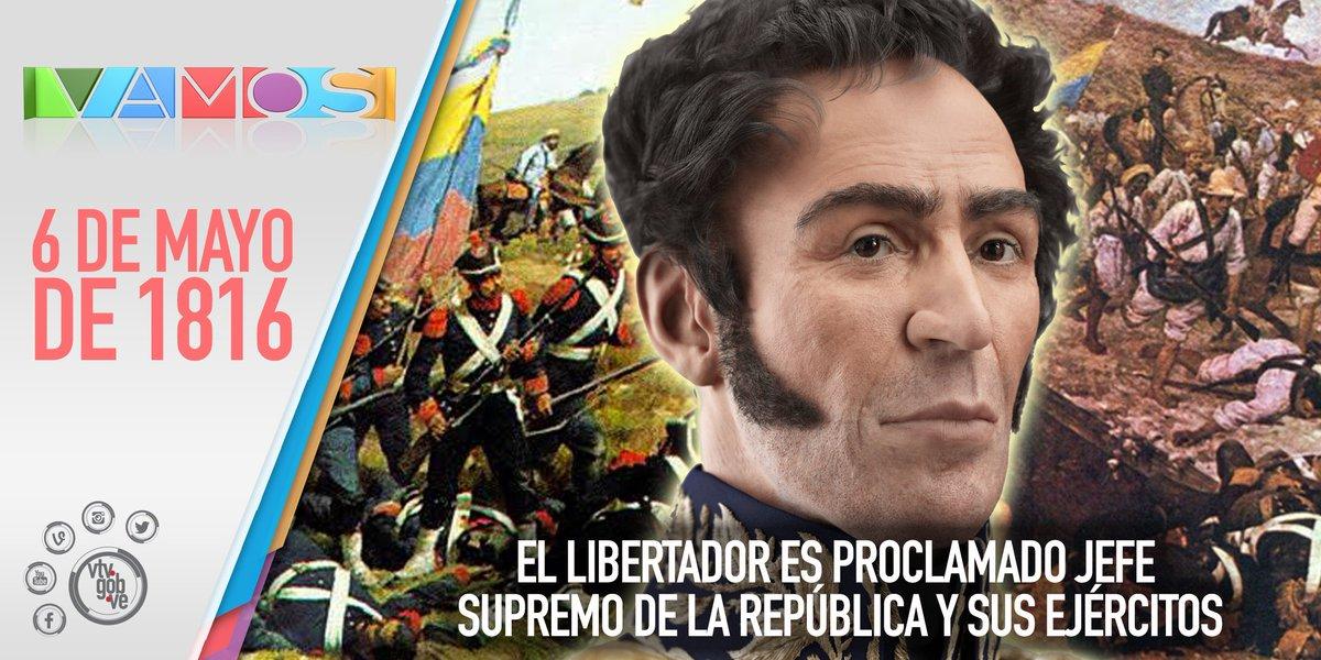 #Hace 200 años de la Proclamación de Simón Bolívar como Jefe Supremo de la República. https://t.co/BsoePZNL9P