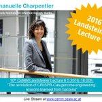 Live stream of Emmanuelle Charpentier's talk @ 10th CeMM Landsteiner Lecture today 6pm: https://t.co/PrYwpIwVSF https://t.co/7SXcnkIoHS