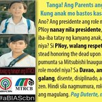 POINT TAKEN! MY VALUES ARE MOLDED BY MY PARENTS, NOT ANYONE ELSE! #DuterteTillTheEnd https://t.co/pivJvwi9rd
