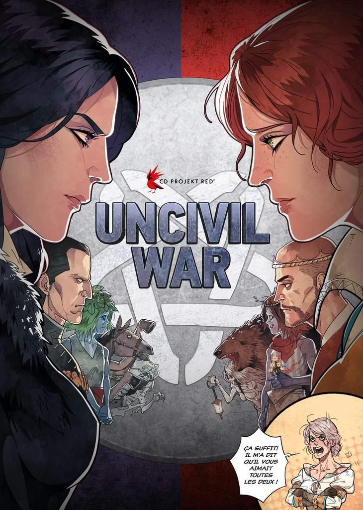 Civil War fait des ravages en salles, Geralt en fait ailleurs. #TeamYen ou #TeamTriss ?  #FanArtDuJour par polapaz https://t.co/IsD70waXFb