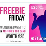 #FreebieFriday Follow and RT to #Win an iTunes gift card worth £25 End 5pm 06/05 #FeelGood  https://t.co/6KxU7pl7N0 https://t.co/K3LNXQZ7V0