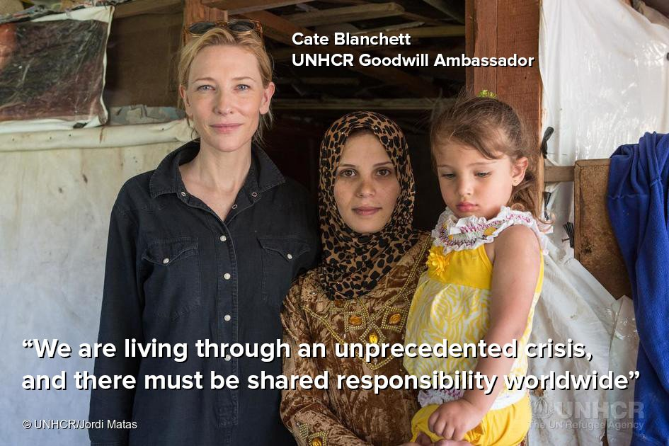 """Do we go down the compassionate path or do we go down the path of intolerance?"" ~Goodwill Ambassador Cate Blanchett https://t.co/mY1AWLU7uP"