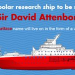 £200m research ship named RRS Sir David Attenborough – remote underwater support vessel to be named #BoatyMcBoatface https://t.co/eDFaLdmawc