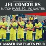 #Concours RT + Follow pour gagner 2x2 places pour le match #PSGFCN du 14 mai ! Les gagnants tirés au sort le 10 mai! https://t.co/O5AJGQouIQ