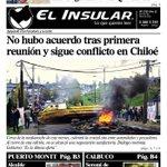Lluvia llega a Chiloé en su 4 día de movilización. Les dejamos la portada de hoy https://t.co/M6wuuHxdHF