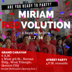 [STAFF] We conclude our fight with MIRIAM REDVOLUTION: A Rave to Reform! #MIRIAM2016 #MiriamUntilTheEnd https://t.co/1dzhtCBCv1