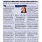 JLLs @EmmaHoskyn discusses what a #Brexit would mean for the #environment in the latest edition of @estatesgazette https://t.co/P899Eqal3m