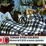 Alumnos del CEPB se suman a las protestas y toman su colegio #DíaADÍaPy https://t.co/VQhw9AfzpG