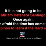 If its not going to be MDS 1 again, Im afraid it gas come for Filipinos to learn it the hard way. #YouthForMiriam https://t.co/xrrnSQdht4