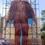 .@Suriya_offls huge cut out erected in front of Sudarshan35 mm theater, Hyderabad for #24TheMovie. #24FDFS ! https://t.co/AYEG6fSOCd