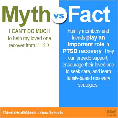 Find out how you can help a loved one with #PTSD: https://t.co/tzhlDjE4Q1 #MentalHealthMonth #KnowTheFacts https://t.co/fftkrnvrhi
