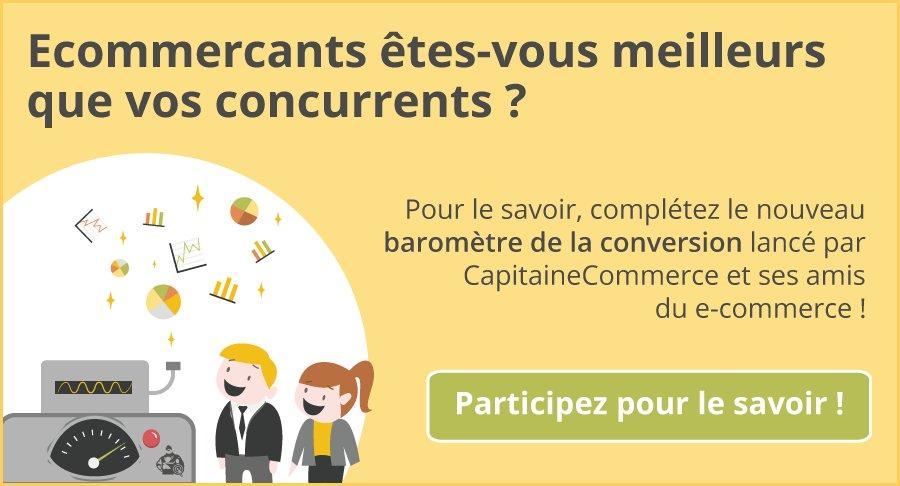 Nouveau baromètre de la #conversion pour tous les ecommercants #ecommerce #Bacon2016