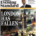 As Sadiq Khan looks on track to be elected London Mayor, the Evening Standard reveals tonight's front page: https://t.co/WSRL9rc6tl