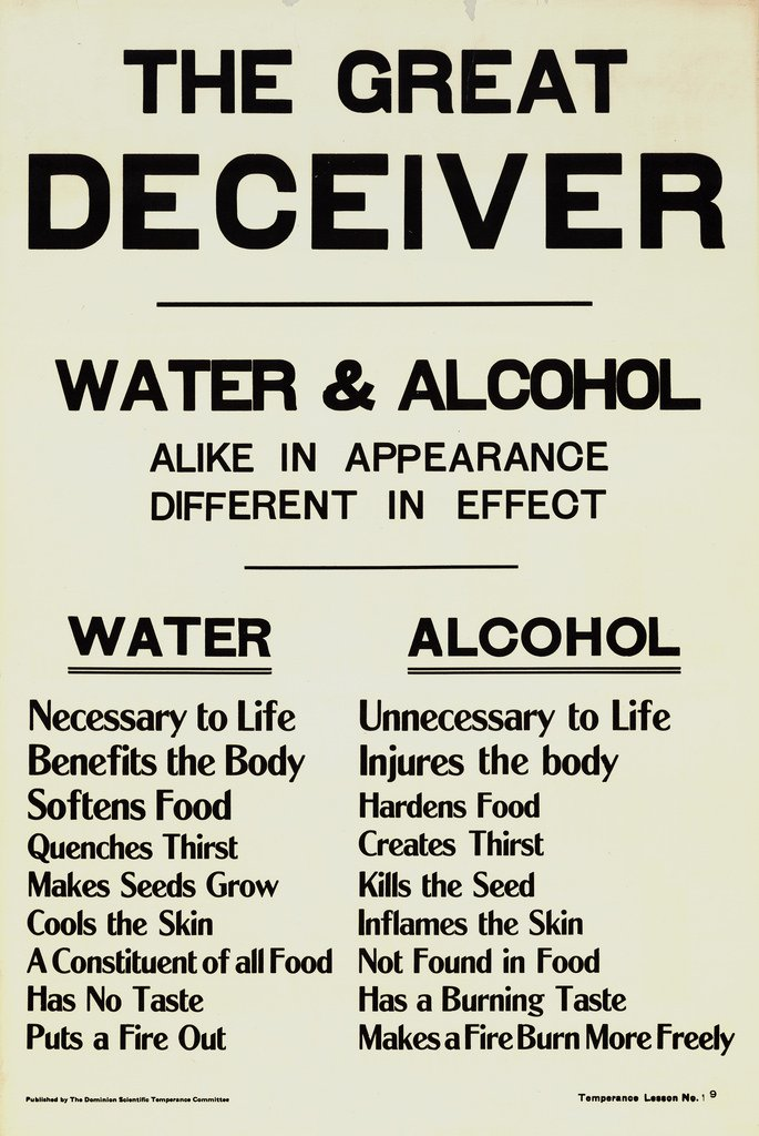 This Prohibition-era poster says alcohol is unnecessary to life, but we'd beg to differ. #TBT https://t.co/QFEVHAnrgl