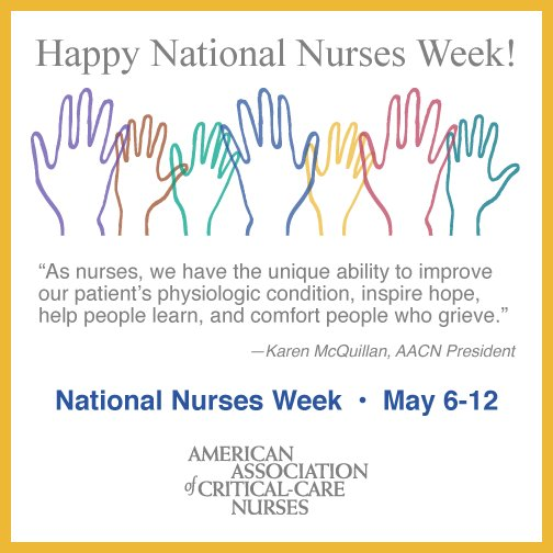 It's National Nurses Week. Thank you for all you do for your patients and their families! https://t.co/V7Sguq0fY2