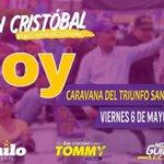 Hoy viernes es la marcha caravana de la Paz, la Unidady la Esperanza en San Cristóbal. ???????????? #SanCristobalPorMasDanilo https://t.co/r7Kf1JL2lb