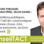 Quelle est la clé des relations publiques selon notre associé @DanielMatte ? #conseilTACT https://t.co/nI03RcDBFn