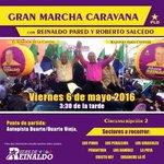 Hoy, gran marcha caravana???? con @ReinaldoPared y @SalcedoGRoberto a partir de las 3:00PM???? #Circ2EnCaravanaConReinaldo https://t.co/K5qRwxnQ3L