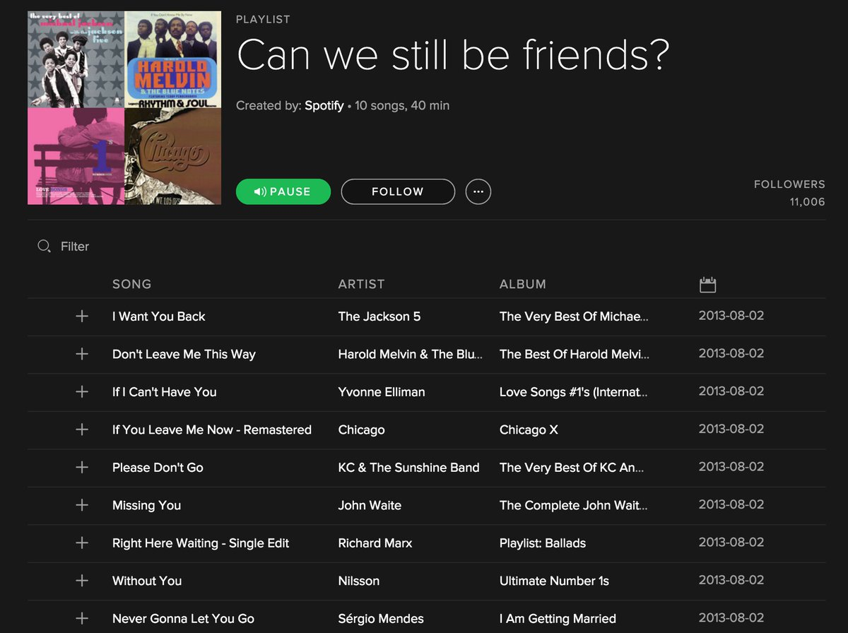 If you cancel your #Spotify premium subscription, Spotify will direct you to this playlist: https://t.co/IhkMx74g2b https://t.co/K9T2s3y2g4