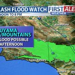 Flash Flooding on the 166 and the 33 possible this afternoon/evening. Turn around, dont drown! #cawx https://t.co/EWqJ4InBXw