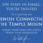 After UNESCO decision denying Jewish link to Temple Mount, Im hosting a seminar on Jewish history for UN staff. RT! https://t.co/lKUAZEIPnv