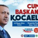 Cumhur-un Başkanı Kocaeliye geliyor... https://t.co/lttChmok4a