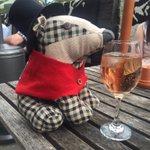 Even badger thinks its wine oclock here on the terrace! #Harrogate #wineoclock https://t.co/6mUZpf3PXu