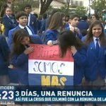 #TomaDeColegios | Protestas de Estudiantes, llevó a la renuncia de Lafuente. #RPC #ElNoticiero https://t.co/LFc1AxiLuR