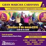 Hoy a las 3:30pm Gran Marcha Caravana con @ReinaldoPared y #RobertoSalcedo #Circ2EnCaravanaConReinaldo https://t.co/j7AZBvGtCo