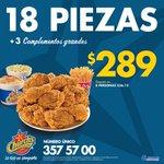¡Ven y disfruta en familia 18 piezas + 3 complementos grandes por sólo $289! ???????????? #Tampico #CdMadero #Altamira https://t.co/tfDKga2MOz