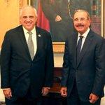 #PolíticasPLD: Presidente @DaniloMedina recibe a Ernesto Samper, secretario general UNASUR. https://t.co/O7YeVSNlMn https://t.co/B1vVFcJR8q