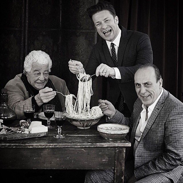 Looking forward to this reunion tomorrow! Join me @gennarocontaldo @jamieoliver @we_are_food @JoeHurd5 BBC1 at 10am. https://t.co/EfAWmUl2dZ