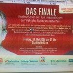 Einzige große Schlagabtausch vor großem Publikum: Van der Bellen und Hofer am 13 Mai in der Stadthalle in Graz https://t.co/fXoDyP2NWU