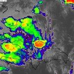 Actividad convectiva sobre las provincias:Montecristi,Valverde y Puerto Plata.Imagen IR 3:30pm. https://t.co/lVXZqDhWE6