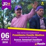 Hoy acompañamos al presidente @DaniloMedina en el recorrido #SanCristobalPorMásDanilo. ¡Somos Juventud Danilista! https://t.co/Uh7A9pyup4