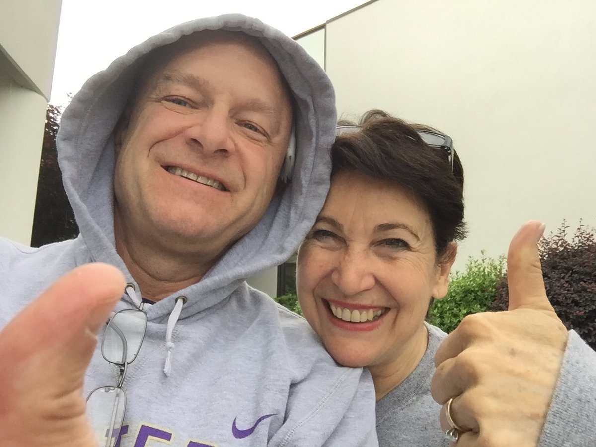 "Chancellor Belcher, recovering from surgery, and First Lady Susan say ""Go graduating Cats!  You.Got.This!"" #WCU2016 https://t.co/ZivV6scBzU"